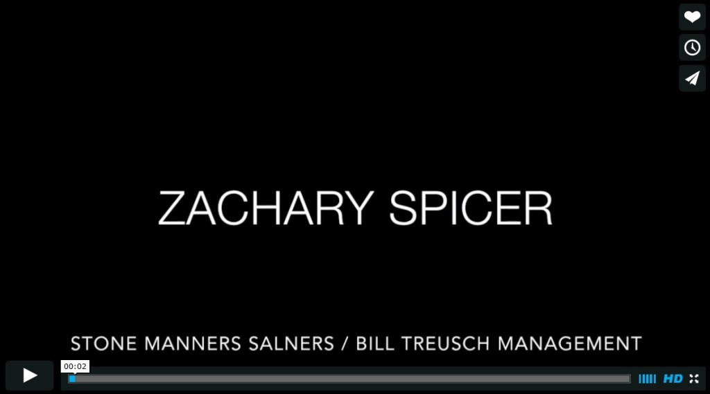 Zachary Spicer's television demo reel.