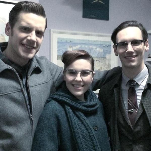 With Gotham's Cory Michael Smith and Chelsea Spack. Instagram photo courtesy of Zachary Spicer. --------------------------------
