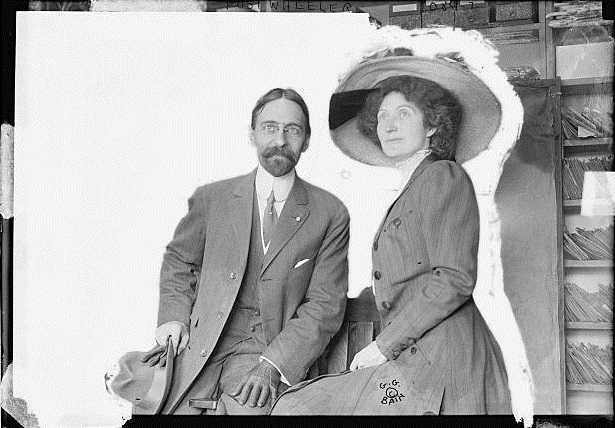Post Wheeler with his wife Hallie Erminie Rives. Photo: Public Domain Date Unknown ------------------------------------------------