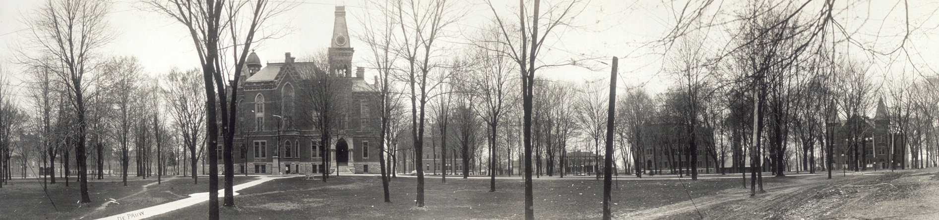 Greencastle and DePauw's shared history dates back to the early 19th century. Photo credits at bottom.