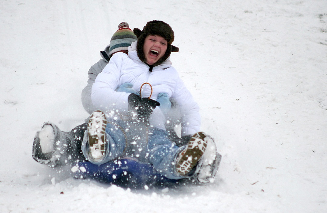 All those kids who got sleds for Christmas and didn't get to use them will have to wait another year.