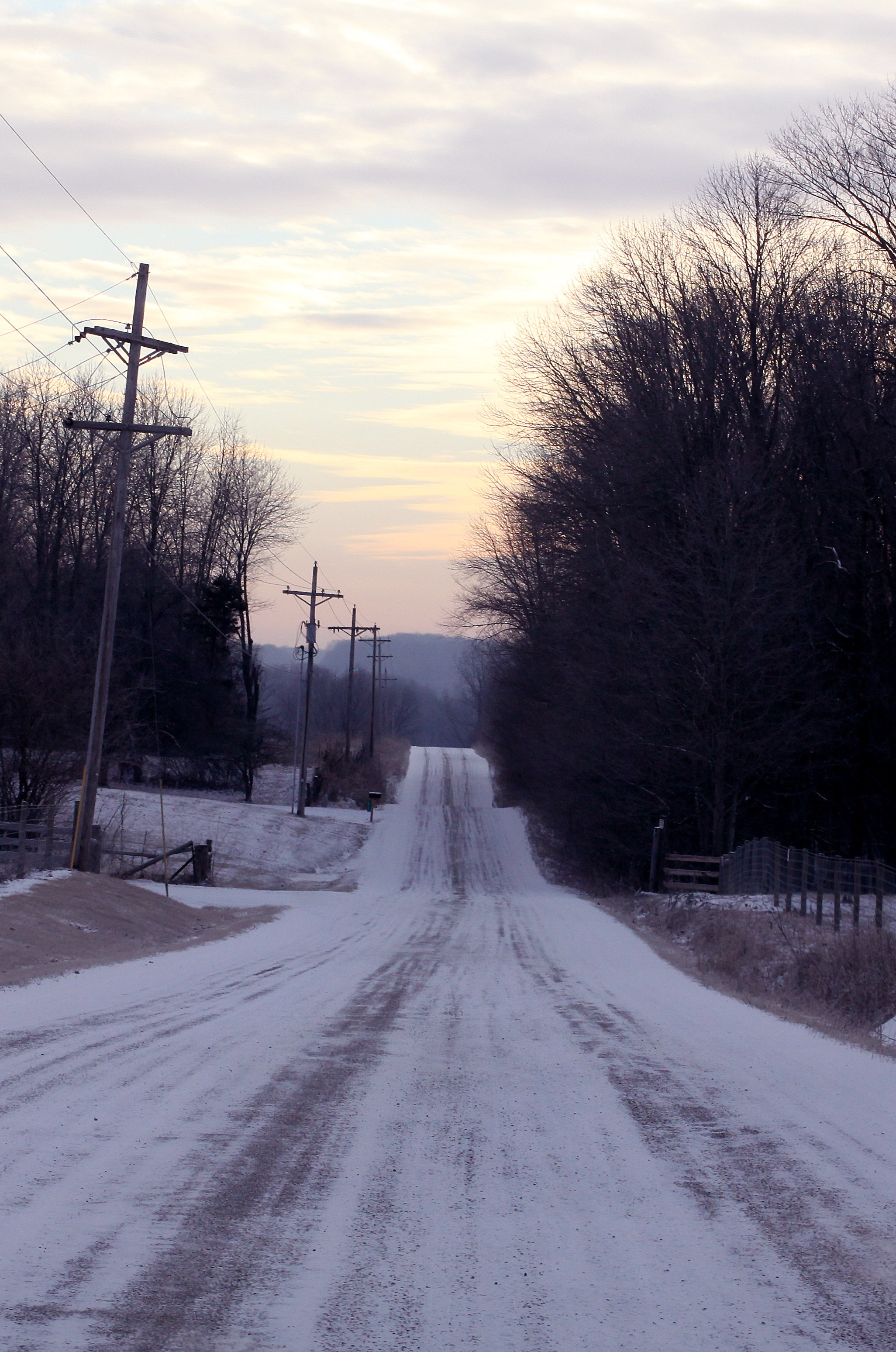 County roads, such as CR 550 S in Henry County, often prove the most treacherous in Hoosier winters.