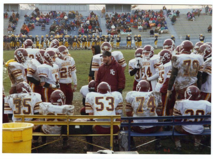 Coach Gerry Keesling with the Quakers, circa 1992. Photo Courtesy of Mark Wheeler.